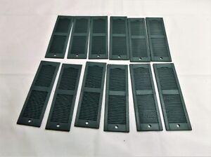 Dollhouse Miniature 6 Pair Louvered Window Shutters, 1:12, 4-3/4 X 1-1/2, Green