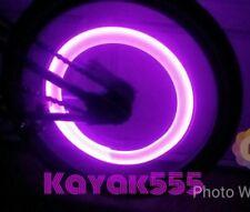 4 X HOT PINK/PURPLE LED VALVE STEM RIMS TIRE LIGHTS FITS CARS TRUCKS BIKES TOO