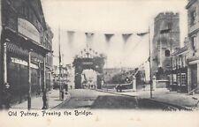 """London Postcard. Old Putney. Freeing the Bridge. """"Idlers Own"""" Series. c 1905"""