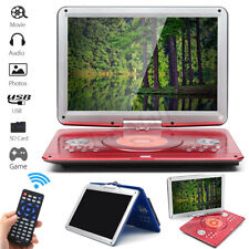 16'' Portable Rechargeable DVD CD MP4 Player 270°Rotation LED HD Screen Car  *