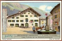 Swiss Chalet Architecture Village Building 1920s Trade Ad Card