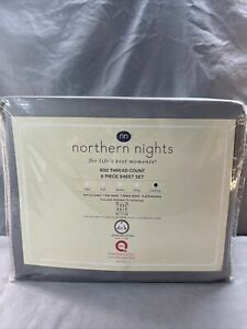 Northern Nights 600TC Egyptian Cotton 6 Piece Sheet Set Cali King Grey