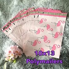 100 Designer Printed Poly Mailers 10X13 Shipping Envelopes Bags FLAMINGO