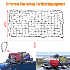 Pickup Truck Top Rack Cover Cargo Roof Basket Luggage Net Elastic Mesh Universal