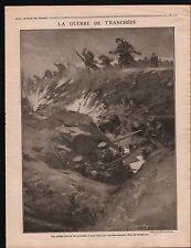WWI Trenches War Guerre Tranchée Poilus Grenades Vosges Etival 1915 ILLUSTRATION