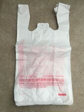 New 200ct Large 1/6 Thank You T-shirt Plastic Grocery Shopping Bags With Handle