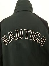 Vtg NAUTICA Jacket Sailing REVERSIBLE Hood Colorblock Spell Out Men Sz XXL Coat