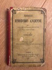 Livre - Abrégé d'Histoire Ancienne - Victor DURUY - 1875 Hachette - Sixième