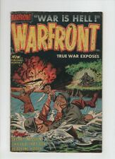 WARFRONT #5 VG+, bloody hand to hand combat cover, 1952 pre code war, Harvey