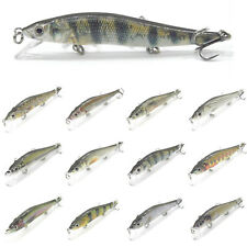 1PCS Fishing Lure Floating Minnow trolling Topwater Lures bait hook 12cm/14g