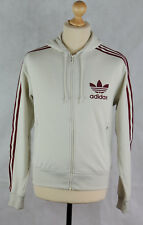 Adidas - Women's - Adidas Hooded Top - Trefoil Badge - Zip Front Hoodie - Medium