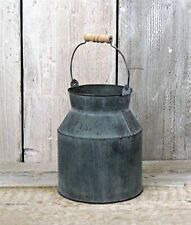 Shabby Zinc Metal Milk Churn Vintage Style Wedding Table Flower Vase Pot Jug