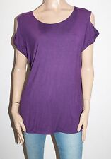 UCW Brand Purple Berry Cold Shoulder Gale Tee Size 20 BNWT #TC86