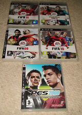 PS3 - 5 Game Bundle -PES2008, FIFA 09,10,11 &12. Boxed with Manual & UK FREE P&P