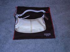Authentic Coach Beige Nylon Bag Handbag #6671