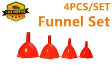 4PCS Plastic Funnel Set Home Kitchen Auto Water Engine Oil Fluid Liquid Refillin