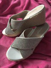 💖kurt Geiger Carvela Sprinkle White Glitter Wedge  Shoes Size 6/39  New!!💖
