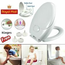 3 In 1 Bathroom Toilet Family Friendly Kids Child Potty Training Seat Soft Close