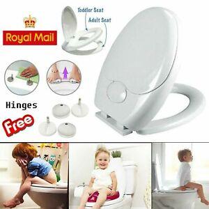 3 in1 Kids Child Bathroom Friend Family Soft Close Toilet Seat Potty Training UK