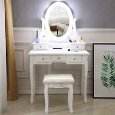 Vanity Table Set with Lighted Mirror Makeup Dressing Table with 10LED Light Led