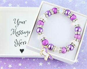 Unicorn Bracelet, Little Girl's Gifts, Children's Jewellery, Birthday Party Gift