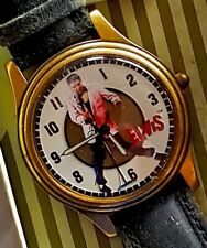 ELVIS PRESLEY ♫ Rare FOSSIL TCB Collection WATCH w/ Leather Band NIB Mint RARE