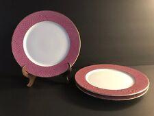 Block Spal Portugal - Sunset- Design on Raspberry Rim- Salad Plate(s) Set Of 3