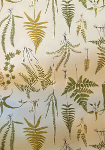 "3 Rolls Vintage Greeff Wallpaper Wall Coverings - #7570 - Botanical Ferns - 27"""