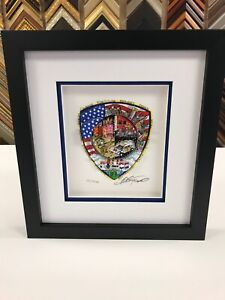 "Charles Fazzino "" A Salute To America's Finest "" 3-D Artwork DX Edition Police"