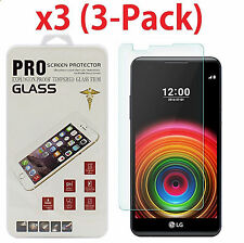 3-Pack Premium Tempered Glass Screen Protector Guard for LG X Power