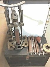 ANTIQUE THOR BRAND 11 PC CONCRETE CORING DRILL SET W/ steel TOOL BOX - USA works
