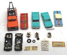 5pc Super Parts Lot of Vintage Motorific Cars+Tow Truck Mustang+Cadillac+Impala