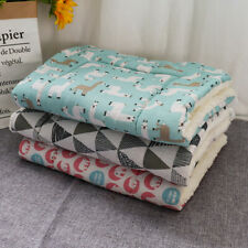 Fleece Cosy Warm Cat Dog Bed Blanket Pet Mat for Kennel Crate Washable Cushion