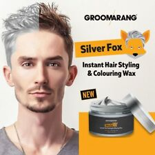 2 x Groomarang Grey Hair Wax Men Women Hair Ash Dye Gray Mud Silver Colour 120g