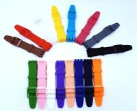 Silicone Bracelet For Swatch Watch Band Strap 16mm 17mm 19mm 20mm Watchband SUSB