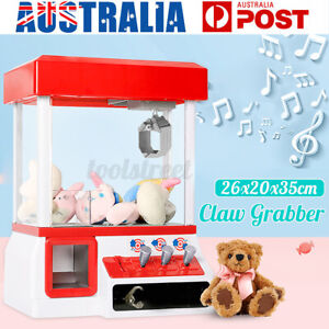 Mini Doll Toy Claw Machine Arcade Game Candy Catch Grabber With LED Lights AU