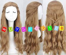 Game of Thrones Cersei Lannister Popolar Cosplay Wig 2 Braid Cos Wig/Wig cap