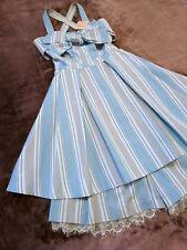 LIZ LISA Dress+Culottes Setup Japan-M Stripe ribbon Romantic Hime&Lolita Fashion