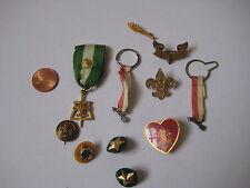 vintage Boy Scouts PIN LOT button BSA 3 be prepared heart eagle OA junior honor