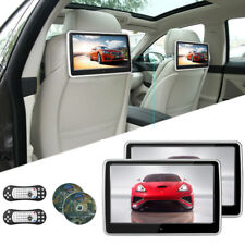 "2PCS 10.1"" HD Car Seat DVD Player Kit Touch Screen Monitor Game AV IN/OUT USB SD"