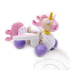 Brand new wooden pull / walk along toy animal - Unicorn