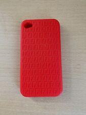 Fendi Red Silicone Iphone 4 Phone Case