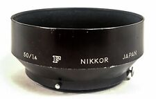 VTG Nikon F Nikkor 50mm F/1.4 Metal Lens Hood Japan; GI Purchase Mid '60s; Good+