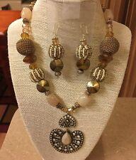 5 X 40 mm cabeza étnico egipcio Plata Tibetana Dijes Colgantes De Perlas