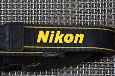 Genuine Nikon Negro y Dorado Correa de Cuello Para Cámaras Serie D