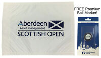 Aberdeen Asset Management Scottish Open Golf Pin Flag Souvenir FREE BALL MARKER!