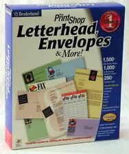 Print Shop Letterhead, Envelopes & More~1,000+ Layouts, 280+ Fonts, 1,500 Images