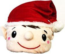 Luxury Red Plush Elf Hat Santa Helper Fancy Dress Party Christmas Xmas Festive