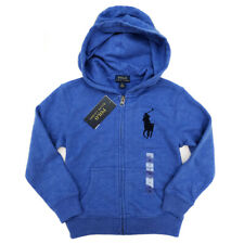 New RALPH LAUREN Blue Big Logo Zip Hoodie Hoody Boys Age 6 Years