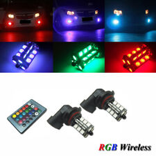 2x 7-Color RGB 9005 9006 HB3 LED Bulb For Fog Lamp Driving Lights Remote Control